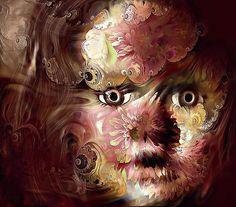 Flower Armor #doll #girl #metallic #face #surreal #blendedimages #eyes #fraxhd #icolorama...
