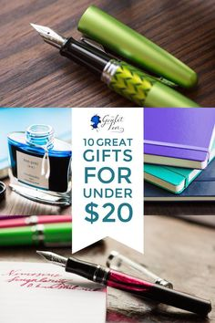 Who says you need to break the bank on your next fountain pen gift? This gift guide has 10 great ideas for under $20! Pin for gift giving inspiration later!
