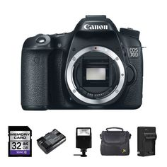Canon EOS 70D Digital Camera Body Only + 2 Batteries, 32GB, Flash & More!
