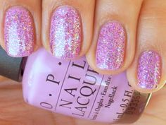 OPI: Lucky Lucky Lavender (Lavender Base) & OPI: Show It And Glow It (Glitter)