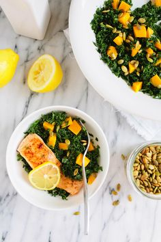 #Recipe: Kale Salad with Salmon