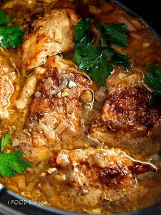 This slow cooker chicken is melt-in-your-mouth tender, exceptionally flavorful, with subtle rustic flavors, and is delicious and comforting. Crock Pot Slow Cooker, Slow Cooker Chicken, Slow Cooker Recipes, Crockpot Recipes, Chicken Recipes, Cooking Recipes, Chicken Menu, Vegan Recipes, Grilled Recipes
