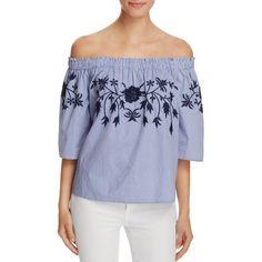 4d546594c97d4b Vero Moda Bella Embroidered Off-the-Shoulder Top - Exclusive Women -  Bloomingdale s