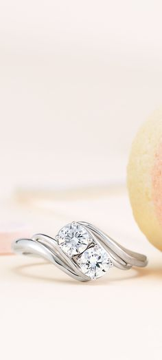 This elegant two stone engagement ring could make quite the impression this Valentine's Day!