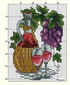 Вышивка крестом.                Кони            Натюрморт                      Символ года                                     ... Cross Stitch Fruit, Cross Stitch Kitchen, Mini Cross Stitch, Cross Stitch Cards, Cross Stitch Flowers, Cross Stitch Kits, Counted Cross Stitch Patterns, Cross Stitch Designs, Cross Stitching