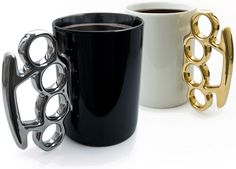 Brass Knuckle / Knuckle Duster Mug by Thabto Design
