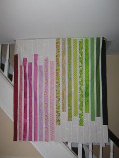 2 color strip quilt
