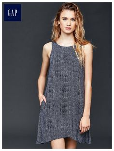 bcc3e2e6c2e Swing tank dress Dobby Weave