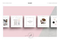 Diary Social Media Pack by Studio Standard on @creativemarket