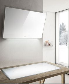 Designed to ensure maximum quality and technological innovation, Elle is a new wall mounted hood from Elica that offers pure form and transparent frame to Read Mount Hood, Kenya, Kitchenware, Home Kitchens, Wall Mount, Oversized Mirror, Tiny House, Innovation, Sweet Home