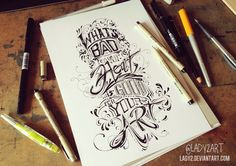 what's_bad ... - hand_lettering. by Lady2 on deviantART