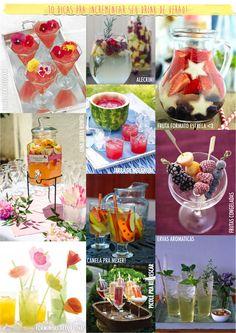 10 dicas para incrementar seu drink de verão!