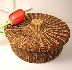 Vintage Basket Pine Needle Basket
