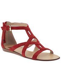 Dolce Vita- Ida Red Strappy Sandals