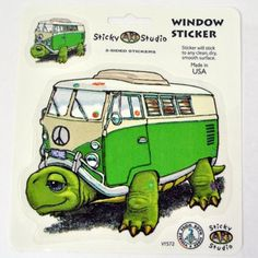 so cute!! $3 | Turtle Van Window Sticker Tie Dye Outfits, Turtle Love, Window Stickers, Hippie Outfits, Camping With Kids, Hippie Style, Van, Shelled, Bohemian Clothing