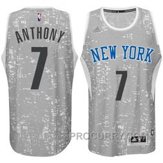 hot sale online 40486 a7b99 New York Knicks  7 Carmelo Anthony City Lights Gray Swingman Jersey, Price    68.00 - Stephen Curry Shoes Under Armour Store Online
