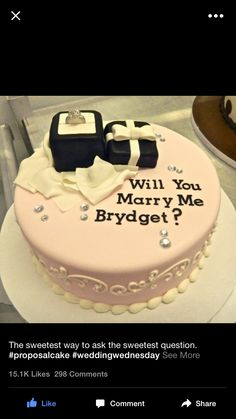 Will you marry me cakes!