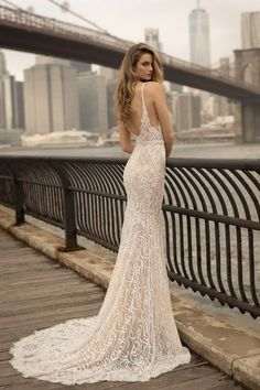 World Exclusive: Berta Wedding Dress Collection 2018 Green Wedding Dresses, Wedding Dresses 2018, Bridal Dresses, Lace Mermaid Wedding Dress, Mermaid Dresses, Berta Bridal 2018, Wedding Dresses Vancouver, Illusion Dress, Perfect Wedding Dress