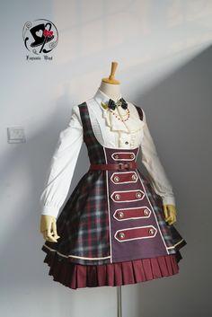 Rabbit Teeth ~Ode to Nepoleon~ Military Lolita Corset Jumper Dress