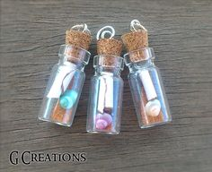 25% #discount #coupon BLACKFRIDAY2014 Message in a Bottle Necklace  Vintage by GabriellesCreations