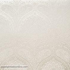 Papel Pintado Milan CO00113, arcos damascos en beige y cava..