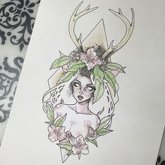 I nearly forgot to share the fully finished version of my favourite piece #derp  Just updated my online shop a little too (link in my bio). I hope you are all having an excellent week so far lovelies ✨ #graphicartery #artshare #artwork #drawing #illustration #myart #artcollective #art_spotlight #art_motive #worldofpencils #worldofartists #spotlightonartists #babe #art #artnerd #artist #artistsoninstagram #deer #watercolour #ink #pastel #pointilism