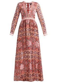 For Love & Lemons JULIET Długa sukienka maroon