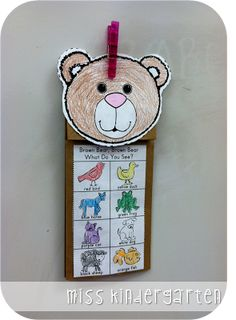 Miss Kindergarten....brown bear puppet