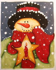 *SNOWMAN ~ Image Detail for - snowman star candle home new additions works in progress spring