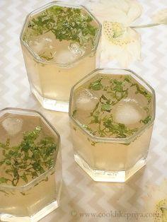 Iced Lychee Green Tea | Flavoured Green Tea Recipe | Summer Cooler Drinks