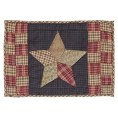 Arlington Patchwork Star Quilted Placemat - Set of 2 Make everyday special! Your table will be stunning when you set down to dinner with the family using our quilted patchwork star placemats. Quilt Sets, Quilt Blocks, Star Blocks, Table Runner And Placemats, Table Runners, Plaid Quilt, Plaid Fabric, Place Mats Quilted, Braided Rugs