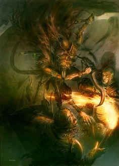 A ratain on the loose!!  Aka a Skaven assassin by MajesticChicken.deviantart.com on @deviantART