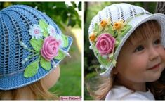 Crochet Panama Flower Hat Free Pattern [Video] to bright up Spring and Summer wear for girls and women: Crochet Summer Sun Hat, Crochet Girls Cloche Hat Quick Crochet Gifts, Diy Crochet, Crochet Crafts, Crochet Projects, Crochet Girls, Crochet Summer, Crochet Butterfly Free Pattern, Easter Crochet Patterns, Easy Crochet Slippers