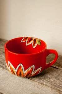 Tasse en grès collection tournesol peinte à la main texte pour maman – Pero