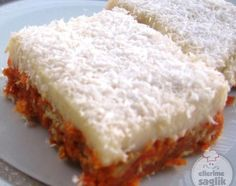 Carrot Dessert Recipe Source by aynuraydi Turkish Mezze, Mousse Au Chocolat Torte, Delicious Desserts, Yummy Food, Pesto Pasta, Turkish Recipes, Easy Cake Recipes, Dessert Bars, Food And Drink