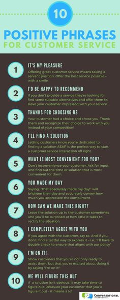 10 Positive Phrases for Customer Service. A few little tips to help your business run more smoothly 💝 E-mail Marketing, Marketing Digital, Business Marketing, Content Marketing, Affiliate Marketing, Business Sales, Marketing Ideas, Customer Service Week, Customer Service Training