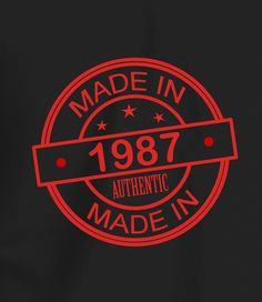 Made In 1987 - Men's 30th Birthday T shirt