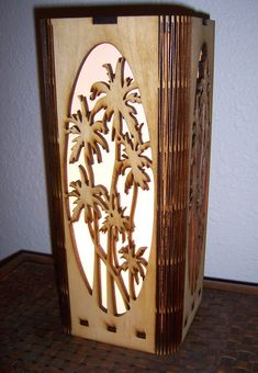 Palm Tree Lamp Laser Cut Accent Lamp by LaserDesignEngraving