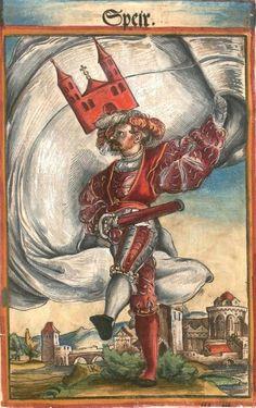 """Speyer [Speir] (f°111) -- Koebel, Jacob, """"Wapen des heyligen römischen Reichs teutscher Nation"""", Franckfurth am Main, 1545 [BSB Ms. Rar. 2155]"""