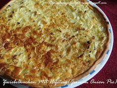 Priya's Versatile Recipes: Zwiebelkuchen Mit Hefeteig (German Onion Pie)