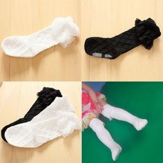 1.12$  Know more - Child Kid Girl Lace Stocking Thick Knee Length High Stockings Cotton Stocking 3-8Y   #bestbuy