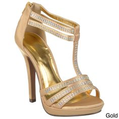 Journee Collection Women's 'Garcia-16' Rhinestone Dress Sandals