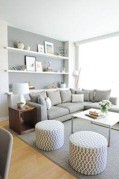 tons neutros na decoração da sala de estar, sala de estar decoração neutra, decoração de sala cinza e branco