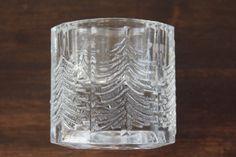 """Large votive candle holder """"Kuusi"""" (spruce), """"Spruce"""" by Iittala, Finland. """"Kuusi"""" series was designed by Jorma Vennola."""