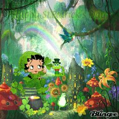 Happy St. Patrick's Day with Betty Boop (BB#1)