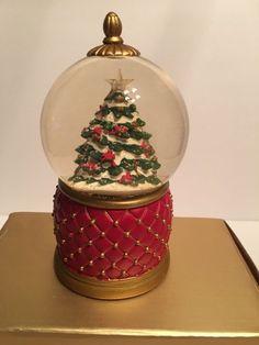 mr christmas musical lighted christmas tree snow globe - Mr Christmas Tree