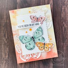 Butterfly Cards, Butterfly Wings, Stamping Up Cards, Bouquet, Beautiful Butterflies, Diy Projects To Try, Creative Cards, Note Cards, Cardmaking