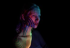 Mads Perch's Stunning Light Projections on Human Figures