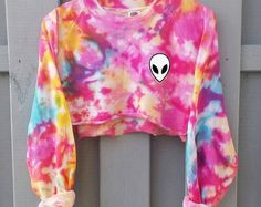 Saure Alien Sweatshirt Grunge tumblr
