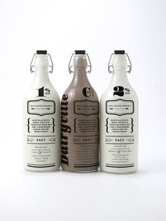 The idea was to create a nostalgic design that is both beautiful and reusable. The bottle could then be used many times so the filling cycle is reduced. The design also features facts about nutritious information promoting health benefits of milk. Milk Packaging, Cool Packaging, Beverage Packaging, Bottle Packaging, Brand Packaging, Chocolate Packaging, Design Packaging, Coffee Packaging, Label Design